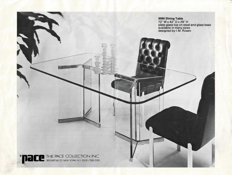 Pace Collection Model 6060 Dining Table by Irving Rosen For Sale 1
