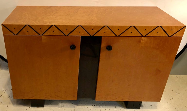 20th Century Pace Collection Modern Lacquered Server, Cabinet Console Mid-Century Modern Look For Sale