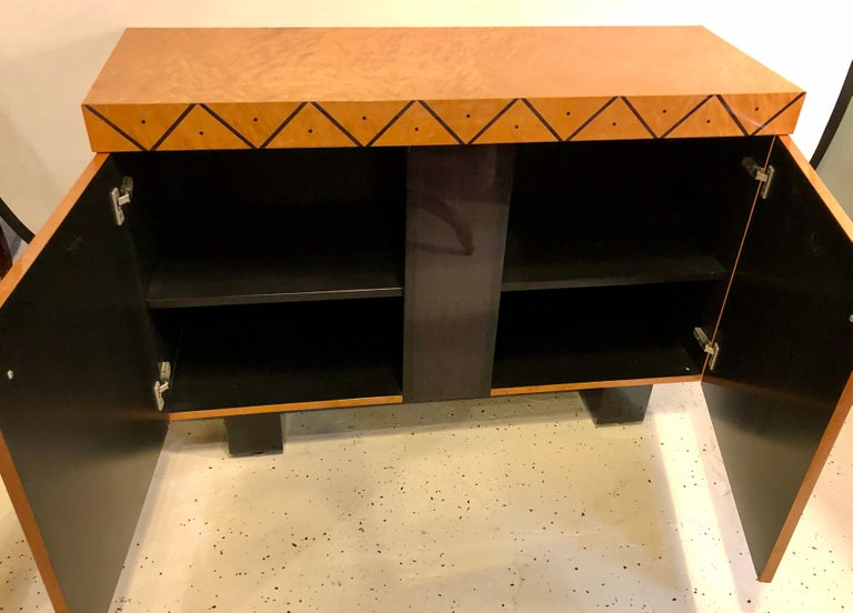 Pace Collection Modern Lacquered Server, Cabinet Console Mid-Century Modern Look For Sale 2