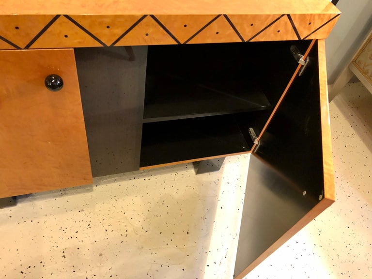 Pace Collection Modern Lacquered Server, Cabinet Console Mid-Century Modern Look For Sale 4