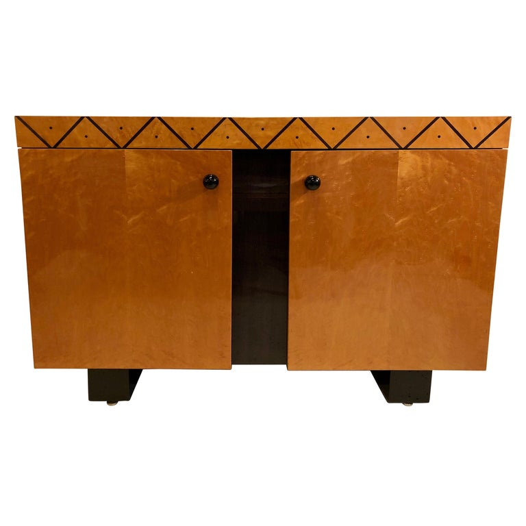 Pace Collection Modern Lacquered Server, Cabinet Console Mid-Century Modern Look For Sale