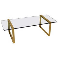 Pace Glass Cocktail Table in Gold