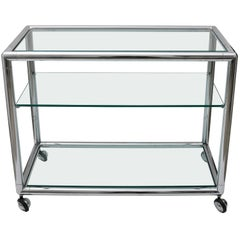Pace Style Polished Chrome Bar Cart