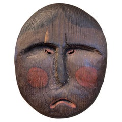 Pacific Northwest Coast Carved and Polychromed Wooden Mask, Early 20th Century
