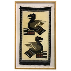 Pacific Northwest Coast Native American Haida Tlingit Framed Blanket Rug