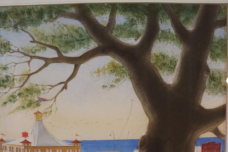Painted Pacific Palisades Watercolor signed Stanton For Sale