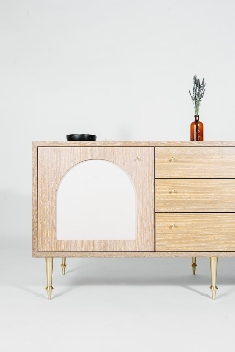 Brass Pacific Sideboard by Volk For Sale