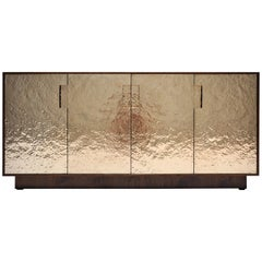 Pacifica Cabinet in Hand-Hammered Bronze and American Walnut by Newell Design