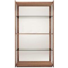 Pacini & Cappellini Bay Bookcase in Walnut by Ervas Basilico Giraldi