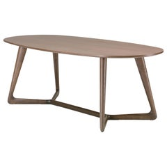 Pacini & Cappellini Cover Dining Table in Bronze Wood by Giuliano Cappellettii