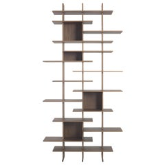 Pacini & Cappellini Elisabeth Bookcase in Walnut by Cesare Arosio & Beatrice Fan
