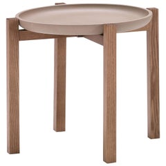 Pacini & Cappellini Gong Coffee Table in Ashwood and Tray Top