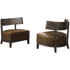 Pacini & Cappellini Kandy Armchair in Ashwood and Leather