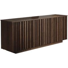 Pacini & Cappellini Line Cupboard in Veneered Ash Wood by Giuliano Cappellettii