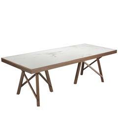 Pacini & Cappellini Zeus Table in Walnut by Giuliano & Gabriele Cappellettii