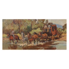 """""""Pack Trail on the River"""" Original Painting by Sheryl Bodily"""