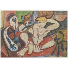 Paco Paquido, Female Nude Painting