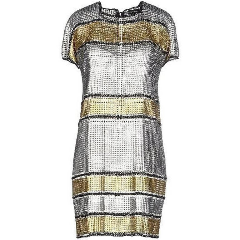 Paco Rabanne 60's Inspired Modern Version of Brigitte Bardot Chain Mail Dress  For Sale