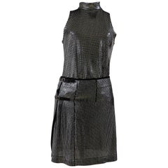 Paco Rabanne anthracite skirt suit