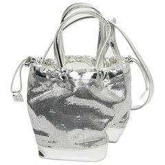 Paco Rabanne Bag Pixel Silver Mesh Bag