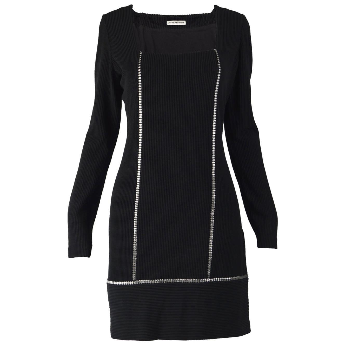 Paco Rabanne Black & Silver Party Dress