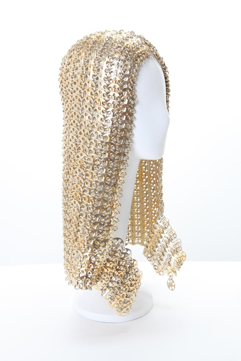 Paco Rabanne Chainmail Hood Rare c 1960s; Worn by Lizzo for the cover of Billboard Magazine