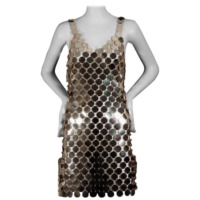PACO RABANNE Gold Rhodoid Disc Do It Yourself Dress
