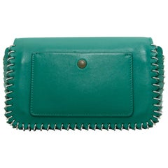Paco Rabanne Green Leather Chainmail Mini Bag