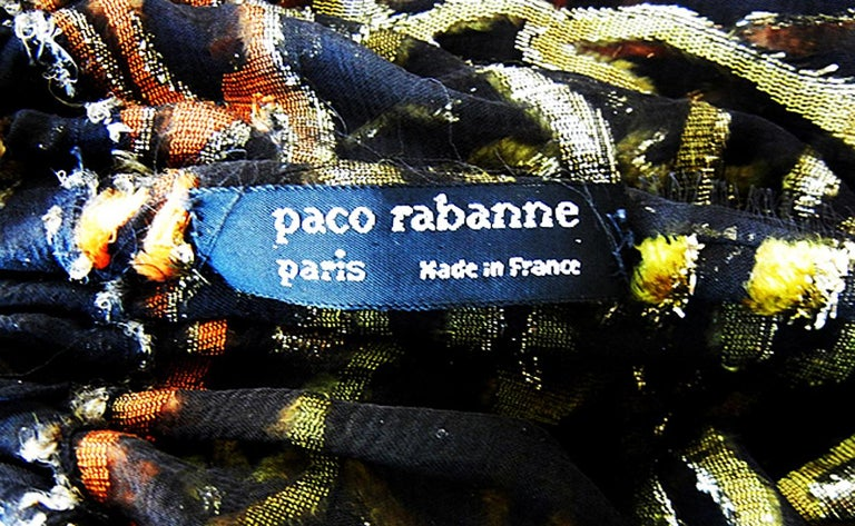 Paco Rabanne Haute Couture Jeweled Necklace Caftan Dress Collectors, Museums For Sale 2
