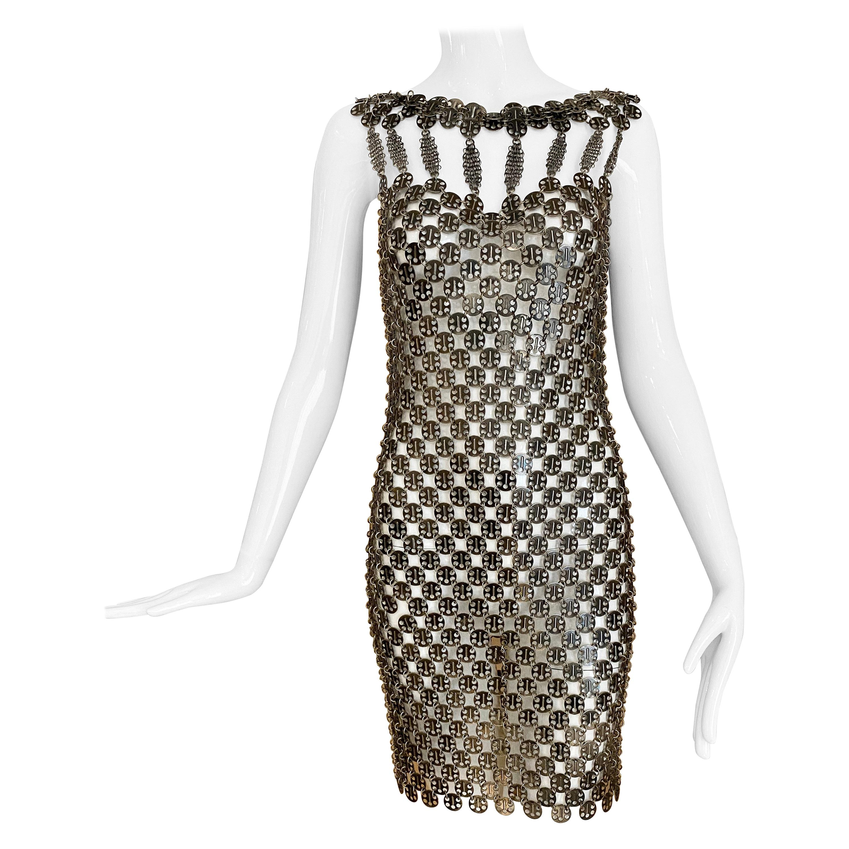 Paco Rabanne Metal Disc Cocktail Dress