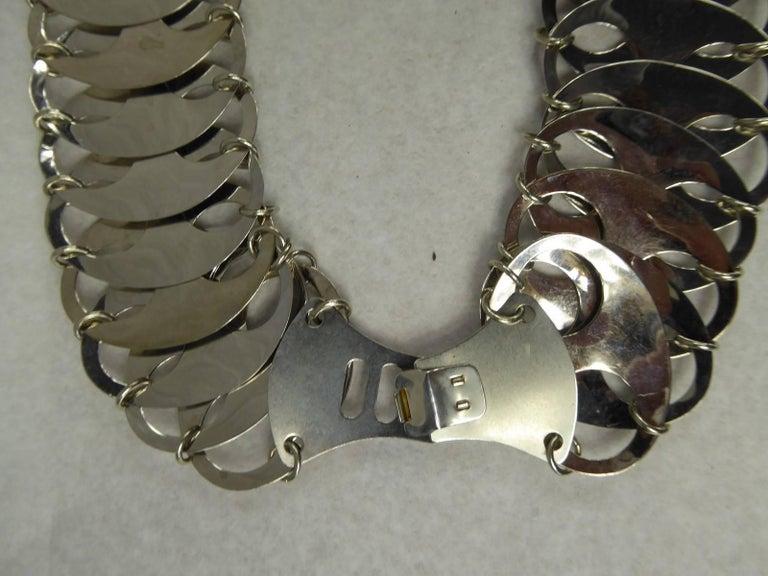 Black Paco Rabanne Metallic Belt For Sale