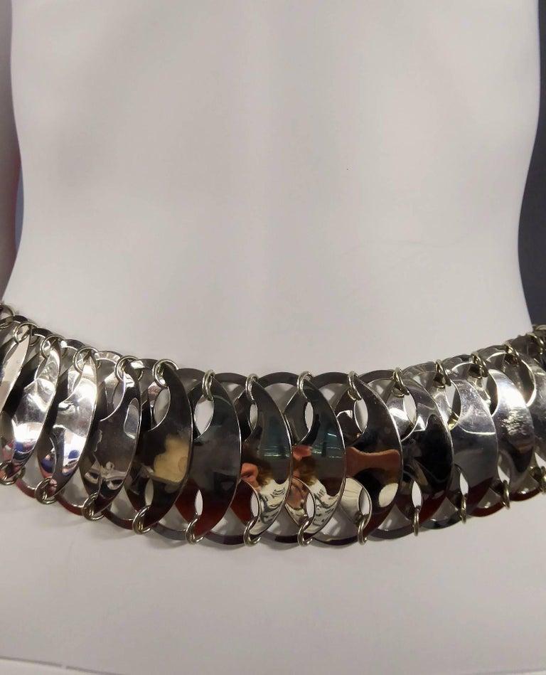 Paco Rabanne Metallic Belt For Sale 2