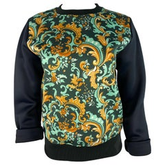 Paco Rabanne Navy and Multicolor Long Sleeves Sweatshirt Top, Size 38