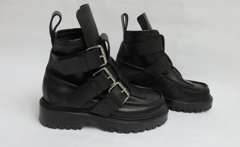Paco Rabanne New Buckle Ankle Boots EU 37 For Sale 3