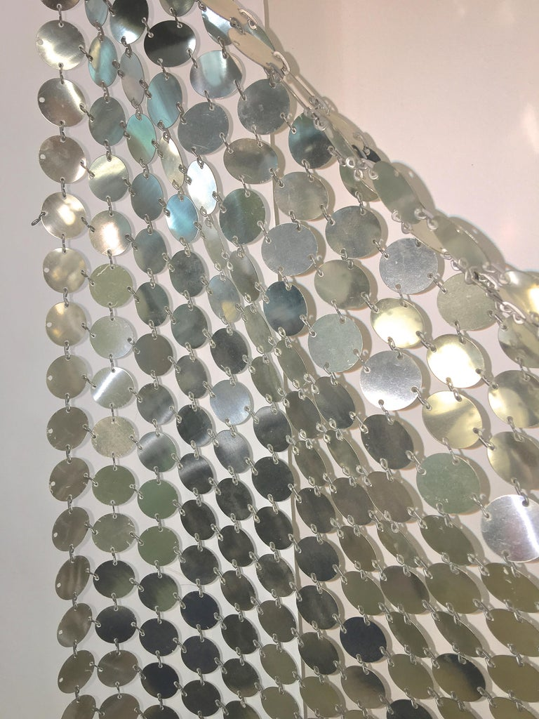 Paco Rabanne Silver Disk Space Curtain For Sale 3