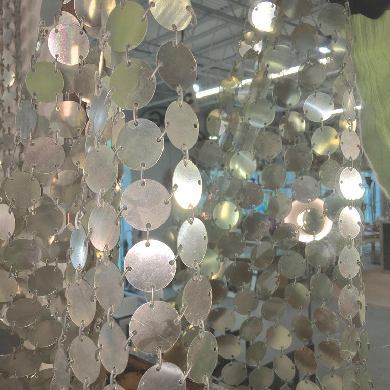 Paco Rabanne Silver Disk Space Curtain For Sale 4