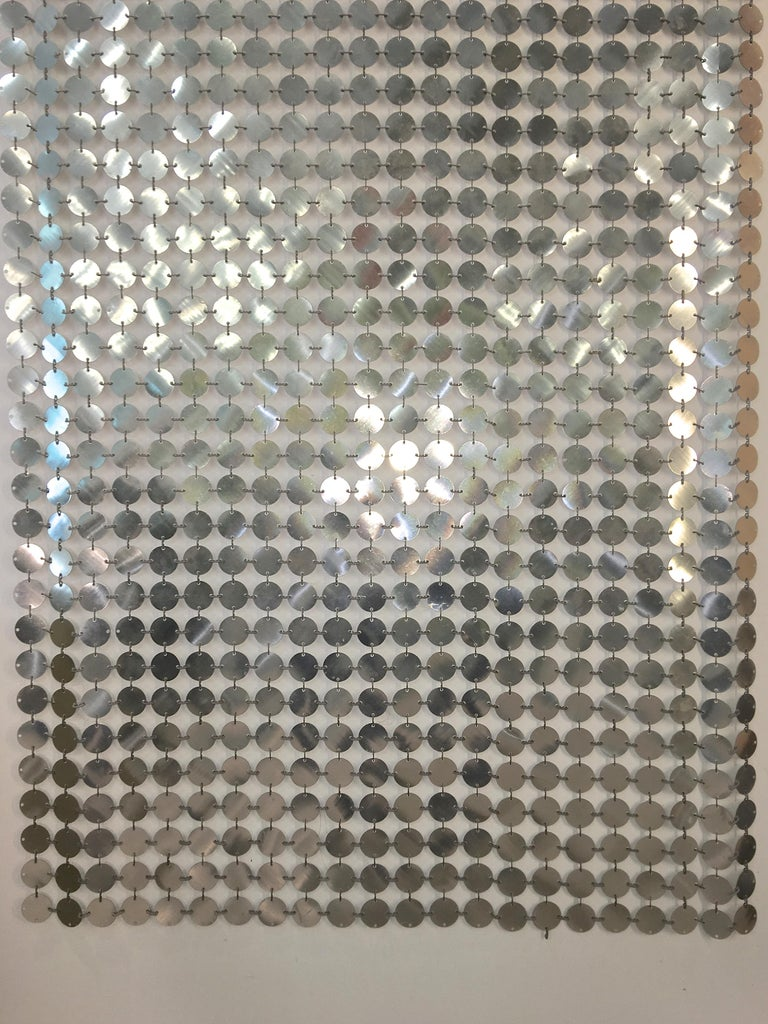 Paco Rabanne Silver Disk Space Curtain For Sale 6
