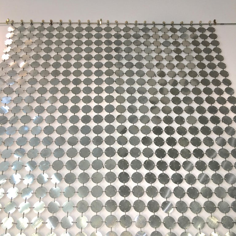 Paco Rabanne Silver Disk Space Curtain For Sale 7