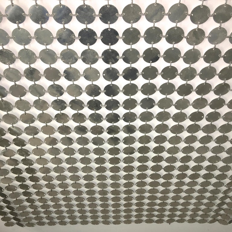 Paco Rabanne Silver Disk Space Curtain For Sale 8