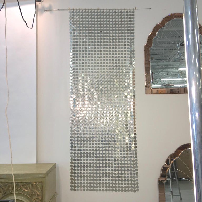 Space Age Paco Rabanne Silver Disk Space Curtain For Sale