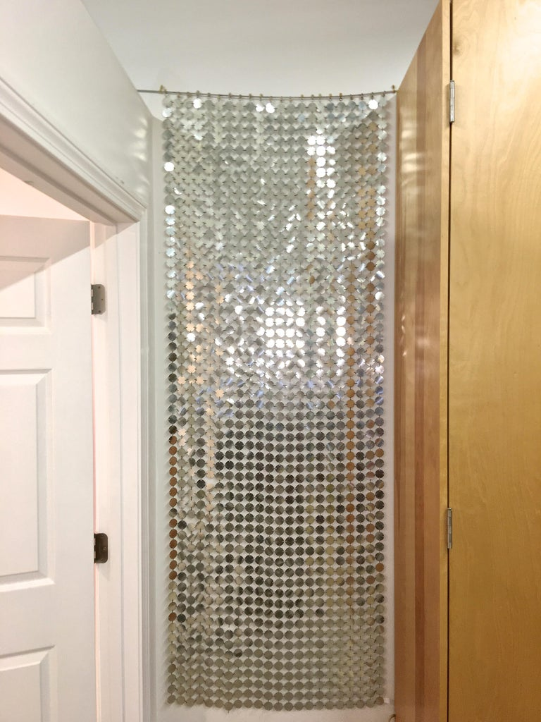 Paco Rabanne Silver Disk Space Curtain For Sale 1