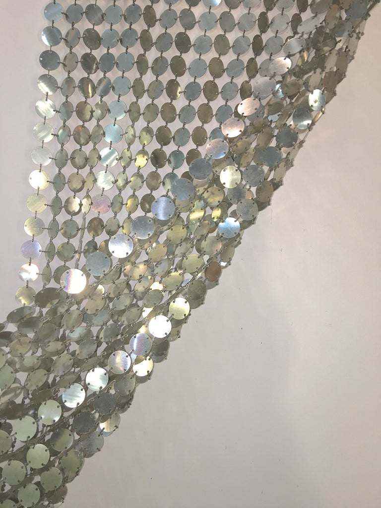 Paco Rabanne Silver Disk Space Curtain For Sale 2