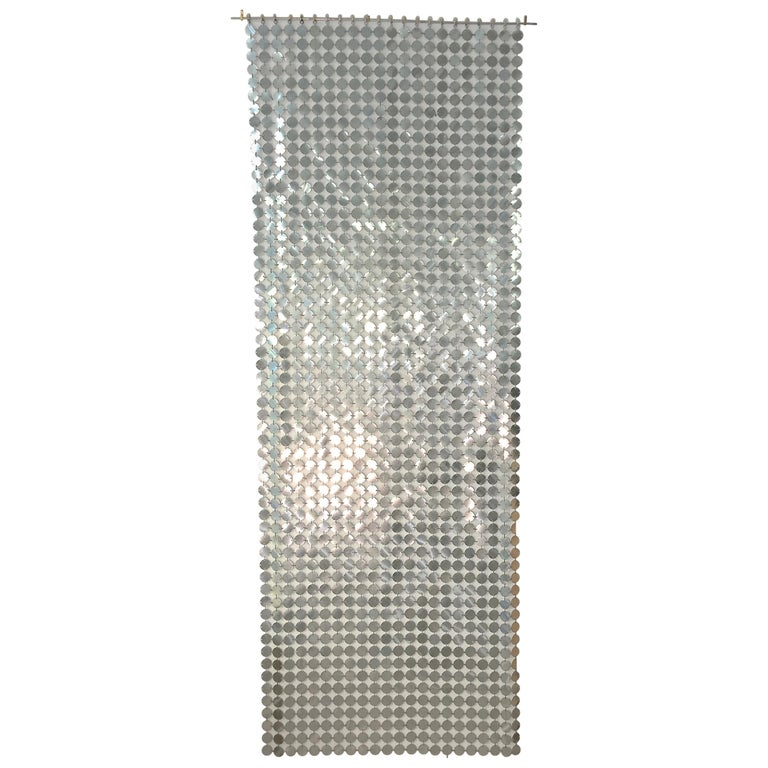 Paco Rabanne Silver Disk Space Curtain For Sale