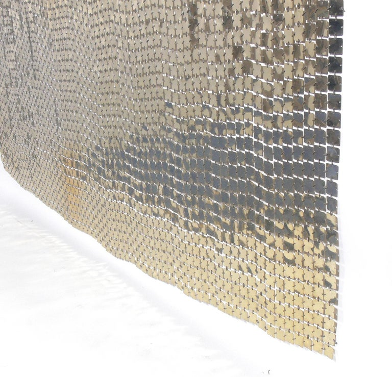 Mid-Century Modern Paco Rabanne Space Curtain or Room Divider For Sale