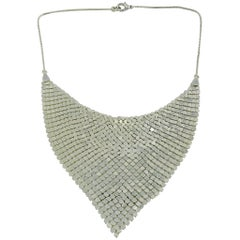 Paco Rabanne Vintage Silver Mesh Metal Necklace