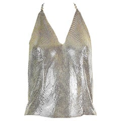 Paco Rabanne Vintage Silver Metal Mesh Iconic Backless Top