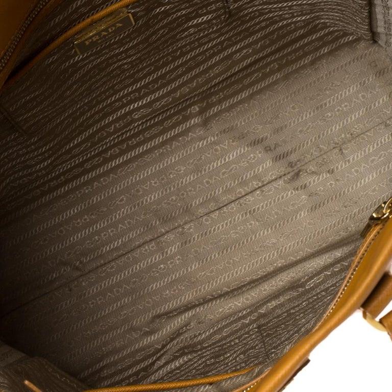 Pada Orange Saffiano Leather Convertible Open Tote 2