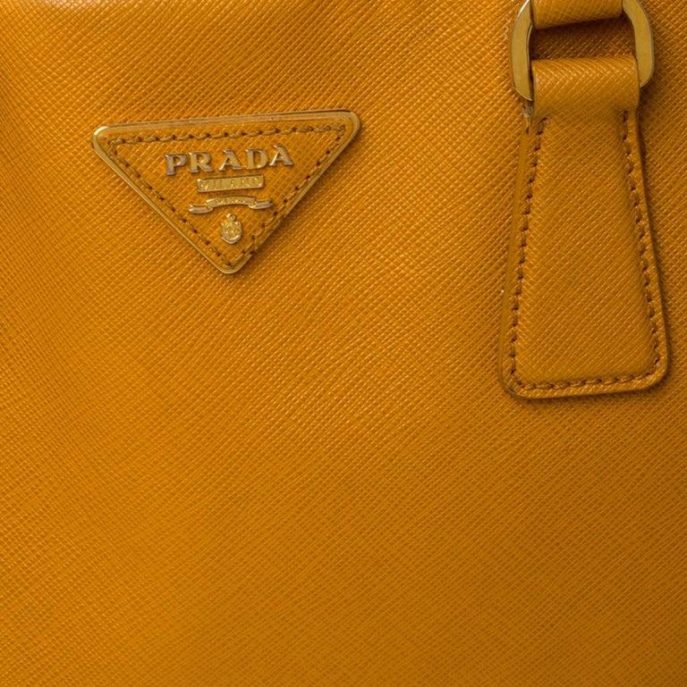 Pada Orange Saffiano Leather Convertible Open Tote 4