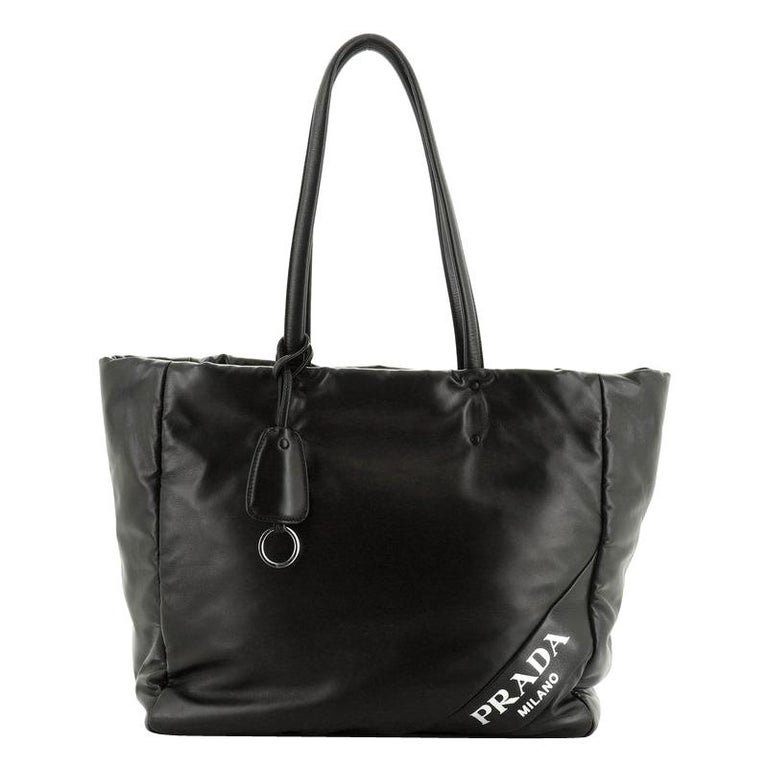 Padded Shopping Tote Nappa Leather Medium