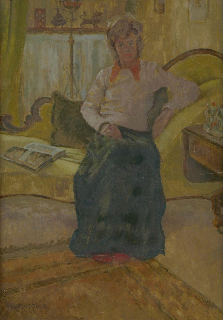 Paddy Curzon-Price (1922-2017) - A Pair of 20th Century Oil Portraits of Women - Post-War Painting by Paddy Curzon-Price